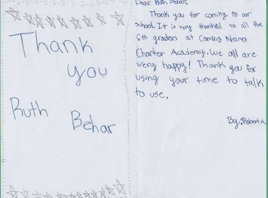 Thank-You Notes from Camino Nuevo Charter Academy in Los Angeles